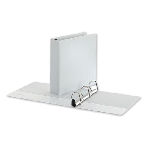 """Deluxe Easy-to-Open D-Ring View Binder, 3 Rings, 2"""" Capacity, 11 x 8.5, White. Picture 1"""