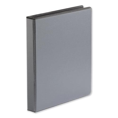 """Deluxe Easy-to-Open D-Ring View Binder, 3 Rings, 1"""" Capacity, 11 x 8.5, Black. Picture 3"""