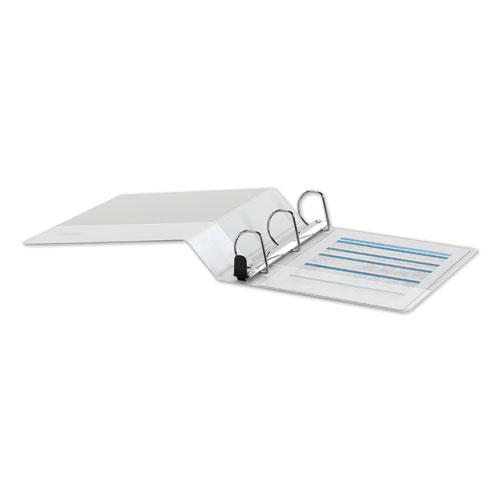 """Deluxe Easy-to-Open D-Ring View Binder, 3 Rings, 2"""" Capacity, 11 x 8.5, White. Picture 3"""