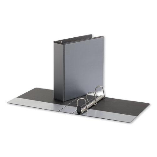 """Deluxe Easy-to-Open D-Ring View Binder, 3 Rings, 2"""" Capacity, 11 x 8.5, Black. Picture 1"""