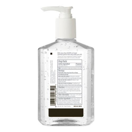 Advanced Refreshing Gel Hand Sanitizer, Clean Scent, 8 oz Pump Bottle. Picture 3