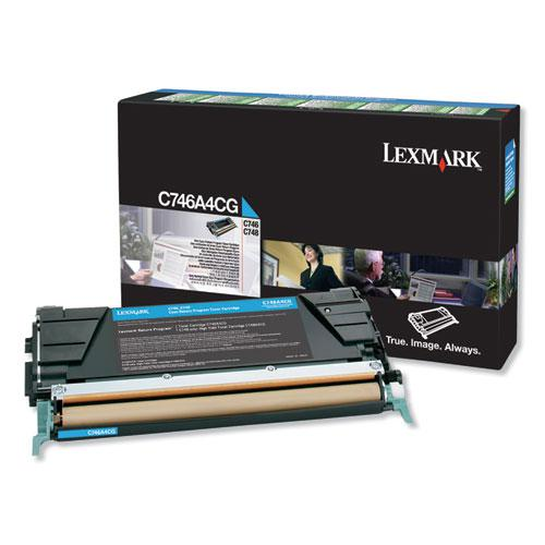 C746A4CG Return Program Toner, 7000 Page-Yield, Cyan, TAA Compliant. Picture 1