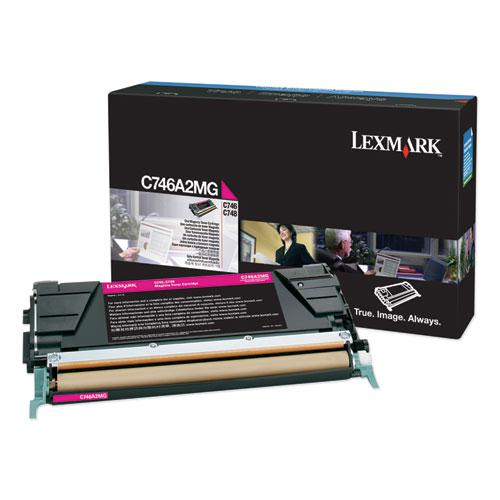 C746A2MG Toner, 7000 Page-Yield, Magenta. The main picture.
