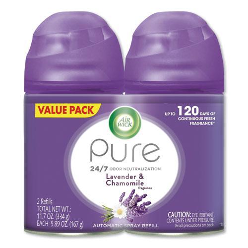 Freshmatic Ultra Spray Refill, Lavender/Chamomile, Aerosol, 5.89oz, 2/Pack, 3 Packs/Carton. Picture 1