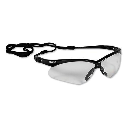 Nemesis Safety Glasses, Black Frame, Clear Lens. Picture 3