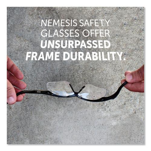 Nemesis Safety Glasses, Black Frame, Clear Lens. Picture 5