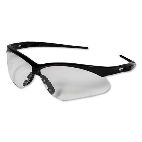 Nemesis Safety Glasses, Black Frame, Clear Lens. Picture 4