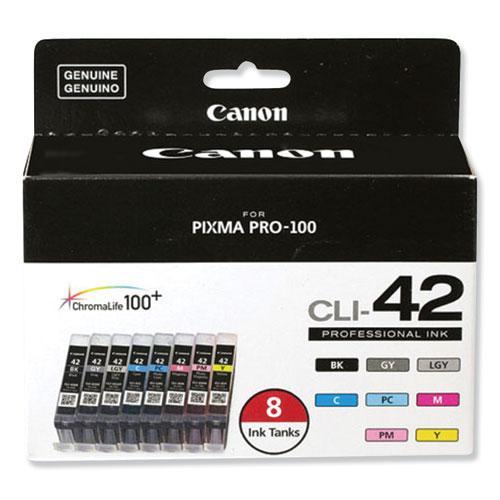 6384B007 (CLI-42) ChromaLife100+ Ink, Black/Cyan/Gray/Light Gray/Magenta/Photo Cyan/Photo Magenta/Yellow. Picture 1