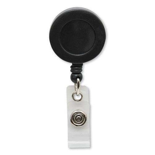 """Swivel-Style Spring-Clip ID Card Reel, 30"""" Extension, Black. Picture 3"""