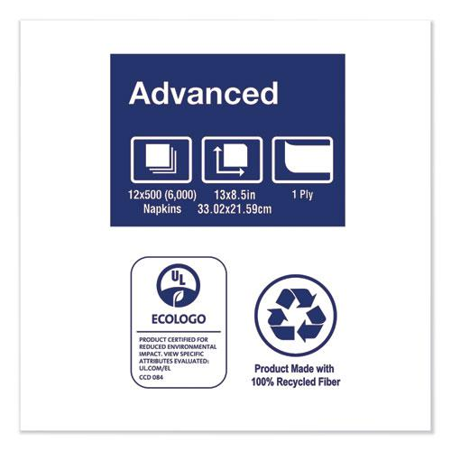 "Xpressnap Interfold Dispenser Napkins, 1-Ply, Bag-Pack, 13 x 8.5"", White, 6000/Carton. Picture 7"