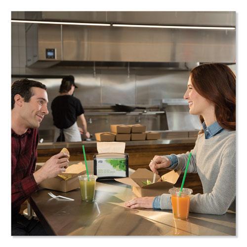 "Xpressnap Interfold Dispenser Napkins, 1-Ply, Bag-Pack, 13 x 8.5"", White, 6000/Carton. Picture 4"