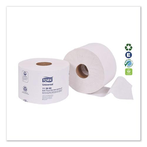 Universal Bath Tissue Roll with OptiCore, Septic Safe, 1-Ply, White, 1755 Sheets/Roll, 36/Carton. Picture 2