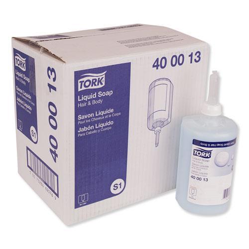 Premium Hair and Body Soap, Apricot, 1 L, 6/Carton. Picture 1