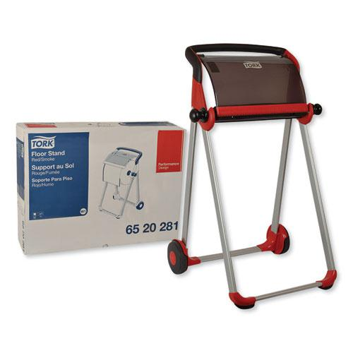 Performance Floor Stand, 25.43 x 39.61 x 20.87, Red/Smoke. Picture 1