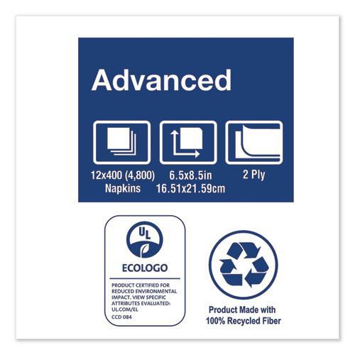 "Xpressnap Interfold Dispenser Napkins, 2-Ply, 6.5"" x 8.5"", White, 6000/Carton. Picture 6"
