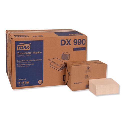 "Xpressnap Interfold Dispenser Napkins, 2-Ply, 6.5"" x 8.5"", White, 6000/Carton. Picture 1"