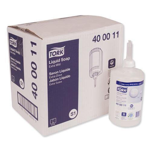 Premium Extra Mild Liquid Soap, Unscented, 1 L, 6/Carton. Picture 1