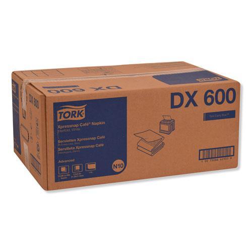 Xpressnap Interfold Dispenser Napkins, 1-Ply, 8.5 x 8.5, White, 500/PK, 12PK/CT. Picture 3