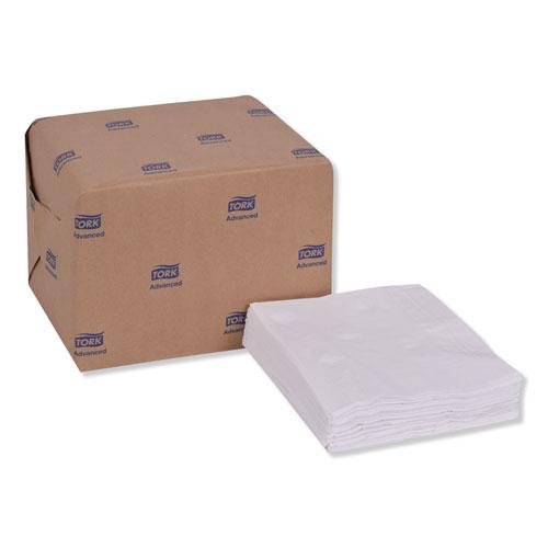 """Advanced Dinner Napkins, 2-Ply, 15"""" x 16.25"""", White, 375/Pack, 8 Packs/Carton. Picture 7"""