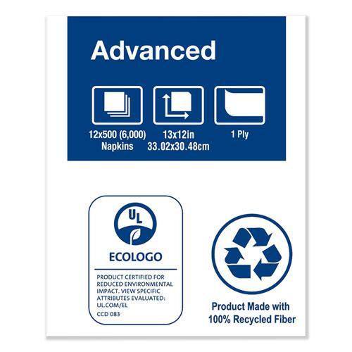 """Advanced Soft Minifold Dispenser Napkins, 1-Ply,13"""" x 12"""", White, 6000/CT. Picture 6"""