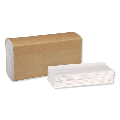 Universal Multifold Hand Towel, 9.13 x 9.5, White, 250/Pack,16 Packs/Carton. Picture 8