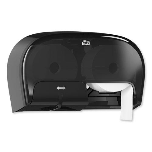 High Capacity Bath Tissue Roll Dispenser for OptiCore, 16.62 x 5.25 x 9.93,Black. Picture 7