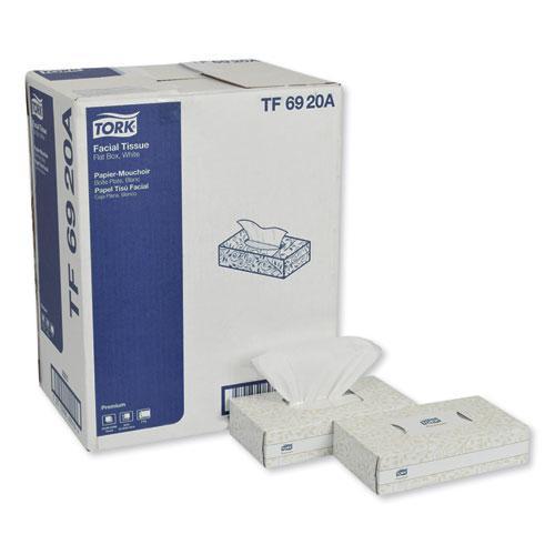 Premium Facial Tissue, 2-Ply, White, 100 Sheets/Box, 30 Boxes/Carton. Picture 1