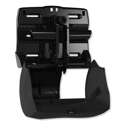 Twin Bath Tissue Roll Dispenser for OptiCore, 11.06 x 7.18 x 8.81, Black. Picture 5