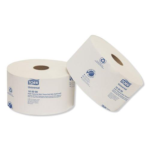 Universal High Capacity Bath Tissuel w/OptiCore, Septic Safe, 2-Ply, White, 2000/Roll, 12/Carton. Picture 2