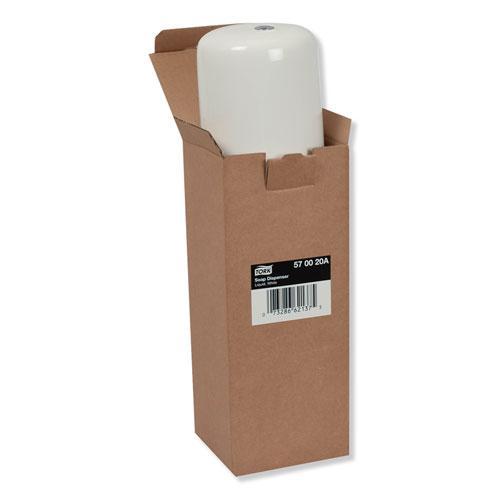 "Elevation Liquid Skincare Dispenser, 1 L Bottle; 33 oz Bottle, 4.4"" x 4.5"" x 11.5"", White. Picture 2"