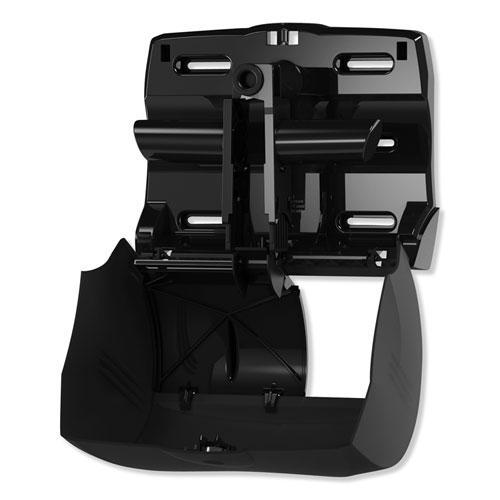 Twin Bath Tissue Roll Dispenser for OptiCore, 11.06 x 7.18 x 8.81, Black. Picture 4
