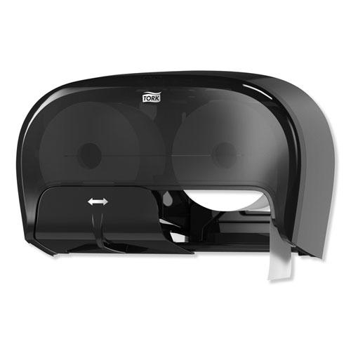 High Capacity Bath Tissue Roll Dispenser for OptiCore, 16.62 x 5.25 x 9.93,Black. Picture 3