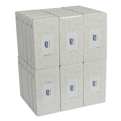 Premium Facial Tissue, 2-Ply, White, 100 Sheets/Box, 30 Boxes/Carton. Picture 5