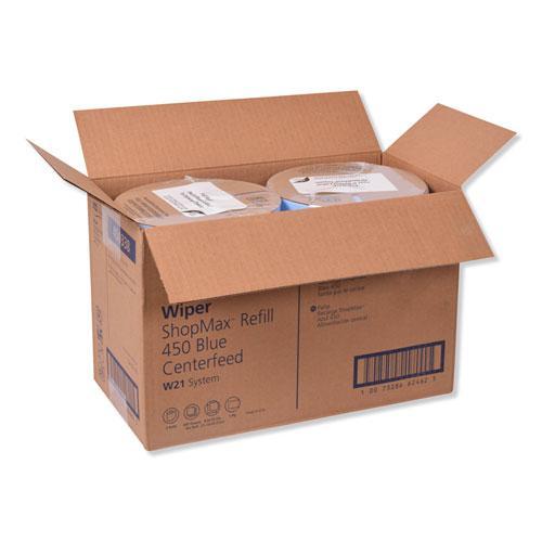 Advanced ShopMax Wiper 450, Centerfeed Refill, 9.9x13.1, Blue, 200/Roll, 2 Rolls/Carton. Picture 4