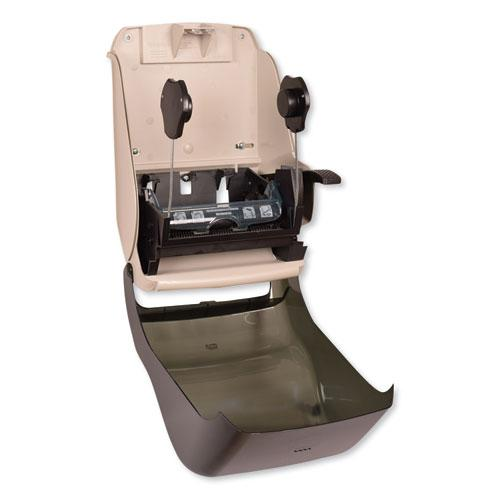Hand Towel Roll Dispenser, 12 15/16 x 9 1/4 x 15 1/2, Smoke. Picture 8