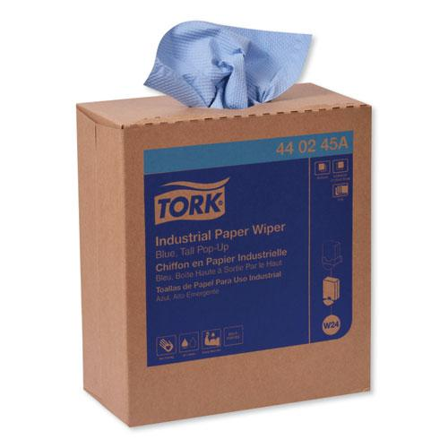 Industrial Paper Wiper, 4-Ply, 8.54 x 16.5, Blue, 90 Towels/Box, 10 Box/Carton. Picture 7
