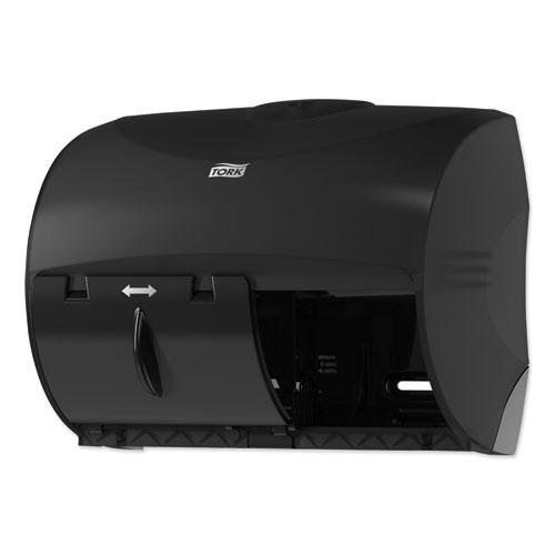 Twin Bath Tissue Roll Dispenser for OptiCore, 11.06 x 7.18 x 8.81, Black. Picture 6