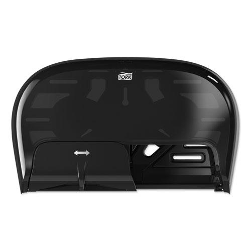 High Capacity Bath Tissue Roll Dispenser for OptiCore, 16.62 x 5.25 x 9.93,Black. Picture 1