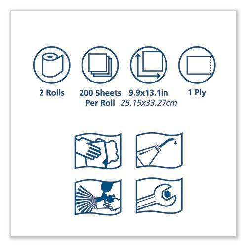 Advanced ShopMax Wiper 450, Centerfeed Refill, 9.9x13.1, Blue, 200/Roll, 2 Rolls/Carton. Picture 3