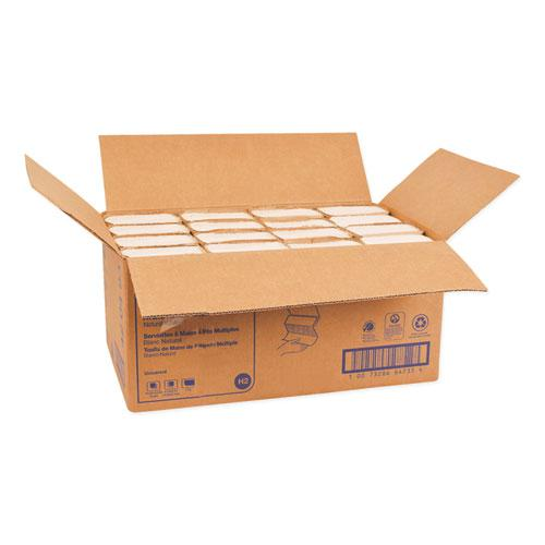 Multifold Towels, 9.13 x 9.5, Natural White, 250/Pack, 16 Packs/Carton. Picture 3