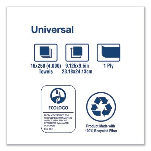 Universal Multifold Hand Towel, 9.13 x 9.5, White, 250/Pack,16 Packs/Carton. Picture 2