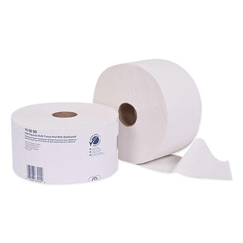 Universal High Capacity Bath Tissuel w/OptiCore, Septic Safe, 2-Ply, White, 2000/Roll, 12/Carton. Picture 1