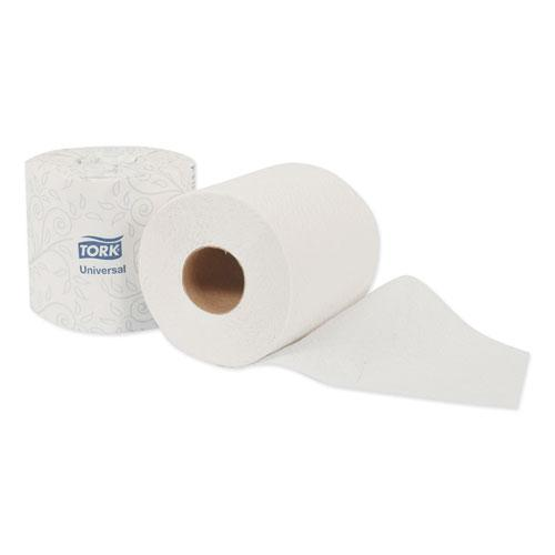 Universal Bath Tissue, Septic Safe, 2-Ply, White, 500 Sheets/Roll, 48 Rolls/Carton. Picture 4