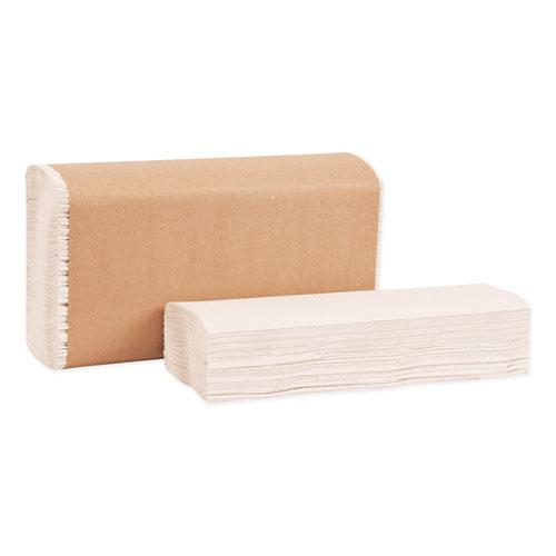 Multifold Towels, 9.13 x 9.5, Natural White, 250/Pack, 16 Packs/Carton. Picture 5