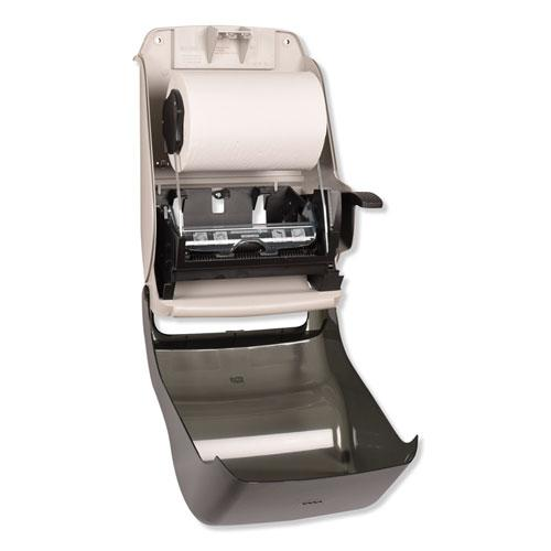 Hand Towel Roll Dispenser, 12 15/16 x 9 1/4 x 15 1/2, Smoke. Picture 5