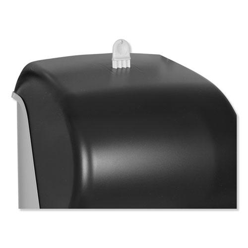 Hand Towel Roll Dispenser, 12 15/16 x 9 1/4 x 15 1/2, Smoke. Picture 4