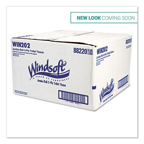 """Jumbo Roll Bath Tissue, Septic Safe, 2 Ply, White, 3.4"""" x 1000 ft, 12 Rolls/Carton. Picture 2"""