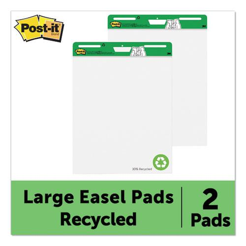 Self-Stick Easel Pads, 25 x 30, White, 30 Sheets, 2/Carton. Picture 2