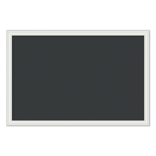 Magnetic Chalkboard with Decor Frame, 30 x 20, Black Surface/White Frame. Picture 1