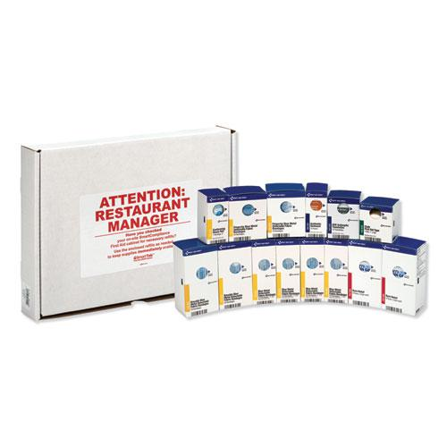 SmartCompliance Restaurant First Aid Cabinet Refill, 214-Pieces. Picture 2